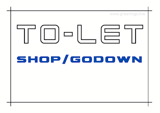 Tolet board shop and godown A4 Size images free download