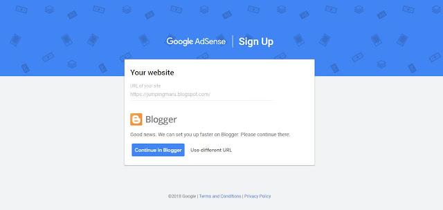 Mendaftar AdSense dengan domain blogspot terbaru
