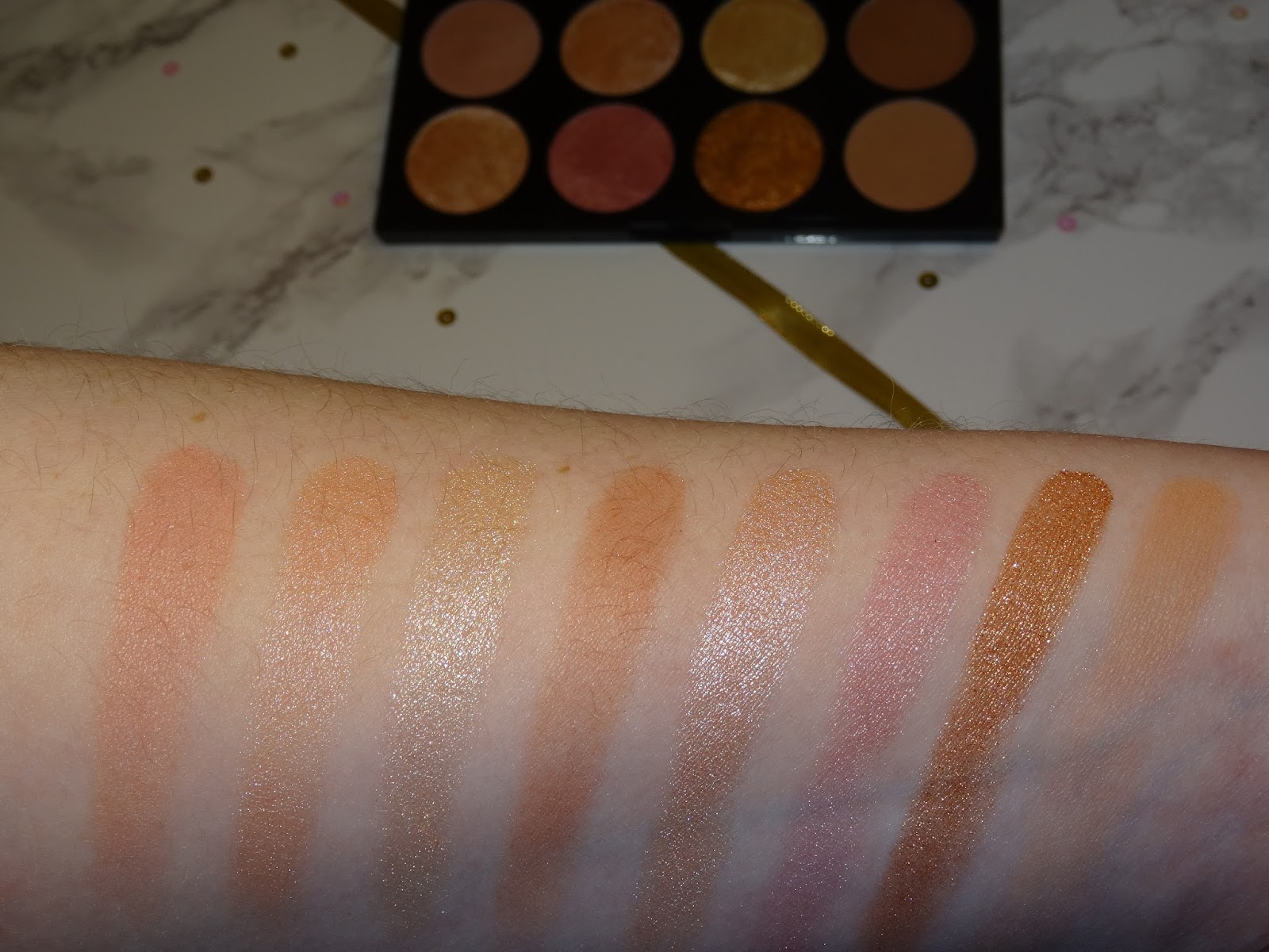 Makeup Revolution Golden Sugar 2 Ultra Blush Palette Review and Swatches