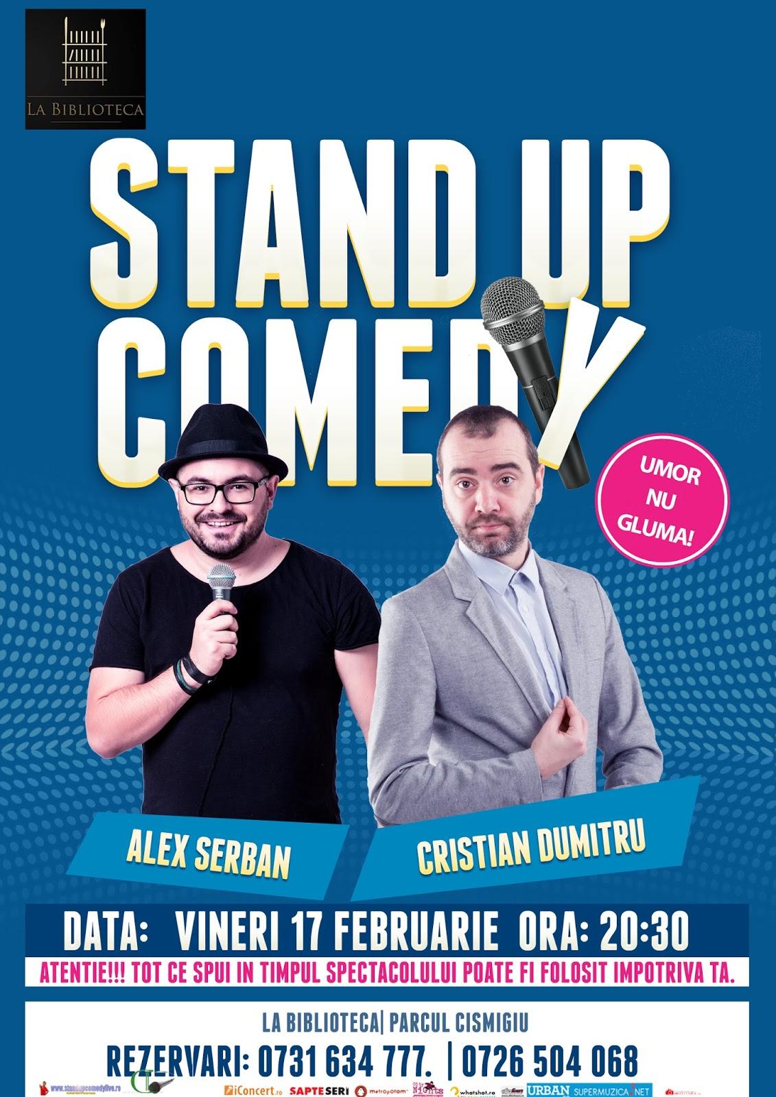Stand-Up Comedy Vineri 17 Februarie Bucuresti | La biblioteca