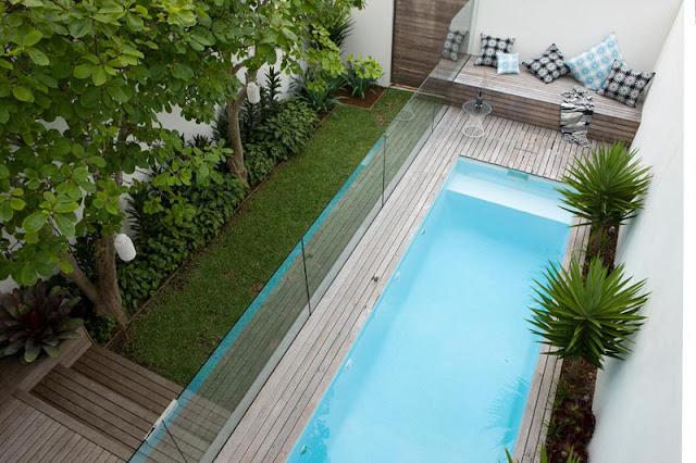 Piscina no quintal jeito de casa blog de decora o for Disenos para albercas