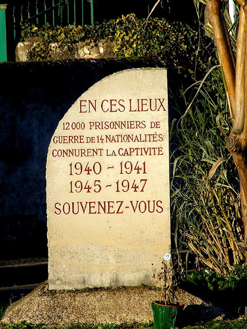 Memorial to a prisonner of war camp. Indre et Loire, France. Photo by Loire Valley Time Travel.