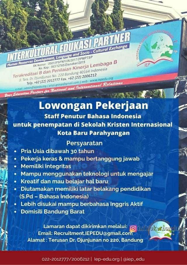 Lowongan Kerja Interkultural Edukasi Partner Bandung April 2021