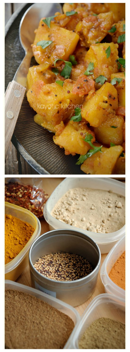 Slow Cooker Bombay Potatoes from Kayotic Kitchen [featured on SlowCookerFromScratch.com]