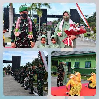 Tarian Mentiroma Persit Korem 142/Tatag Sambut kunjungan Pangdam XIV/Hasanuddin