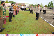 Kapolda Pimpin Upacara Wisuda Purna Bhakti di Lapangan Apel Mapolda Sulbar
