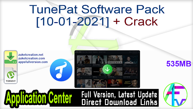 TunePat Software Pack [10-01-2021] + Crack