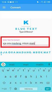 cara membuat tulisan biru di whatsapp