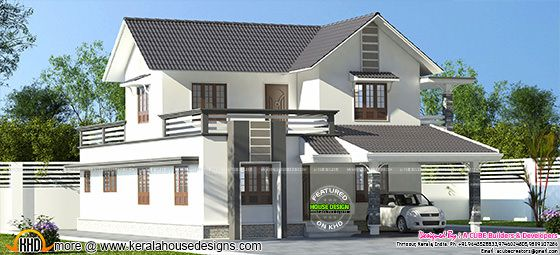 Sloping roof home 2668 sq-ft