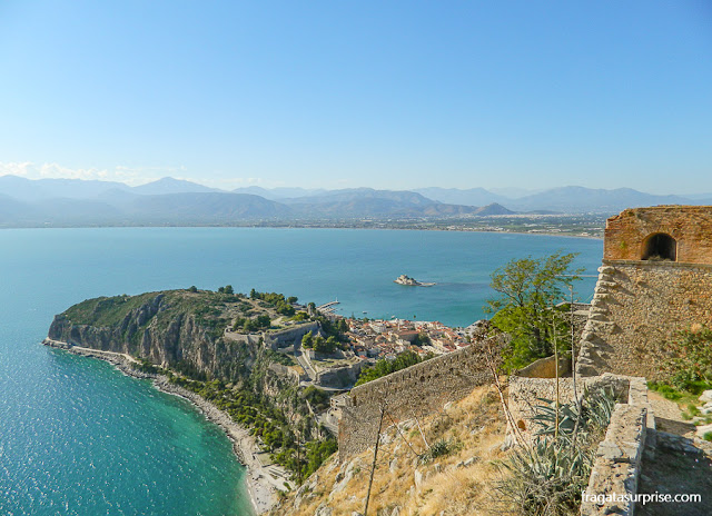Nafplio vista da Fortaleza de Palamidi