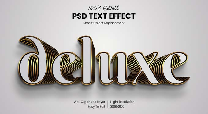 Delux PSD Text Effect Mockup Free Download