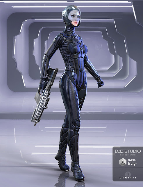 Rogue Sci Fi Suit daz3d