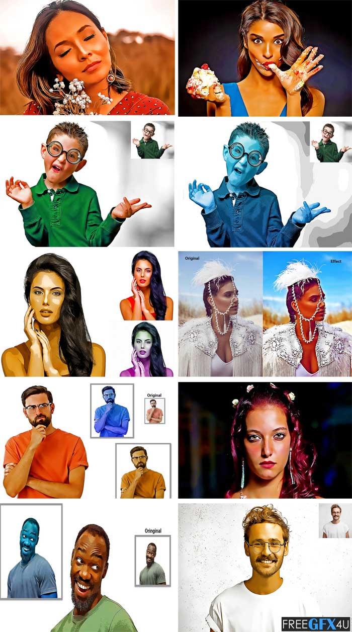 Oil Paint Portrait Photoshop Action