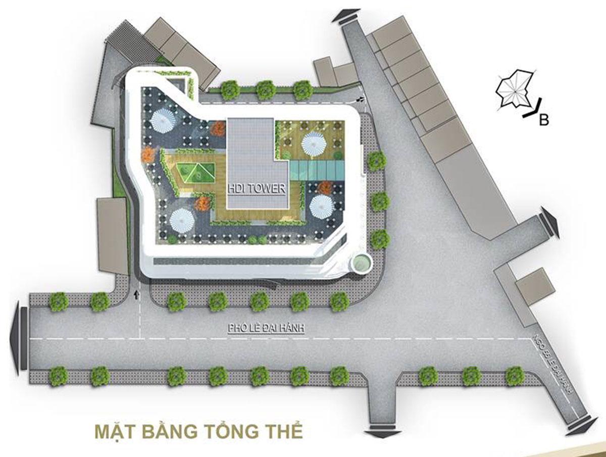 Quy hoạch chung cư HDI 55 Lê Đại Hành