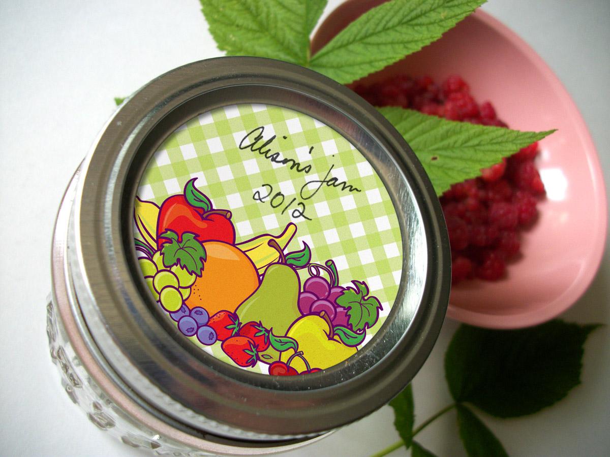 colorful adhesive canning jar labels lots of new canning jar labels. Black Bedroom Furniture Sets. Home Design Ideas