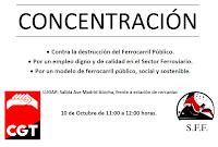 1º CONCENTRACIÓN 10 de OCTUBRE de 11 a 12h en Atocha. SFF-CGT