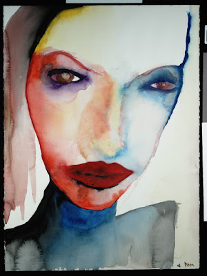 A Mother without a Daughter and a Daughter without a Mother, pintura de Marilyn Manson.