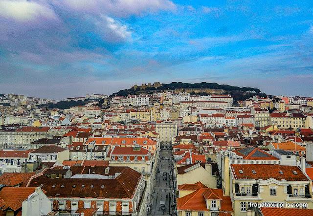 Lisboa vista do Elevador de Santa Justa