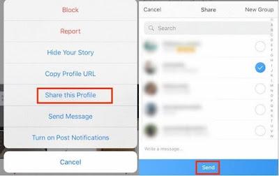 Cara Membagikan Profil Instagram Seseorang Kepada Orang Lain