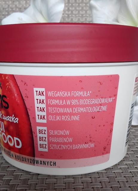 Garnier fructis goji hair food maska nadająca blask do włosów koloryzowanych