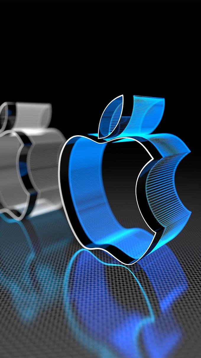 Wallpaper iPhone 8 3D Logo Apple