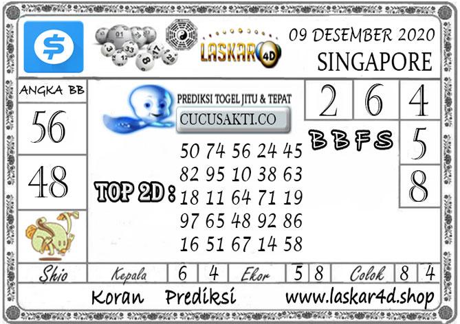 Prediksi Togel SINGAPORE LASKAR4D 09 DESEMBER 2020