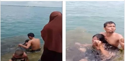 Viral Suami Dilabrak Istri Gegara Mandi dengan Si Rambut Panjang, Malah Cengengesan
