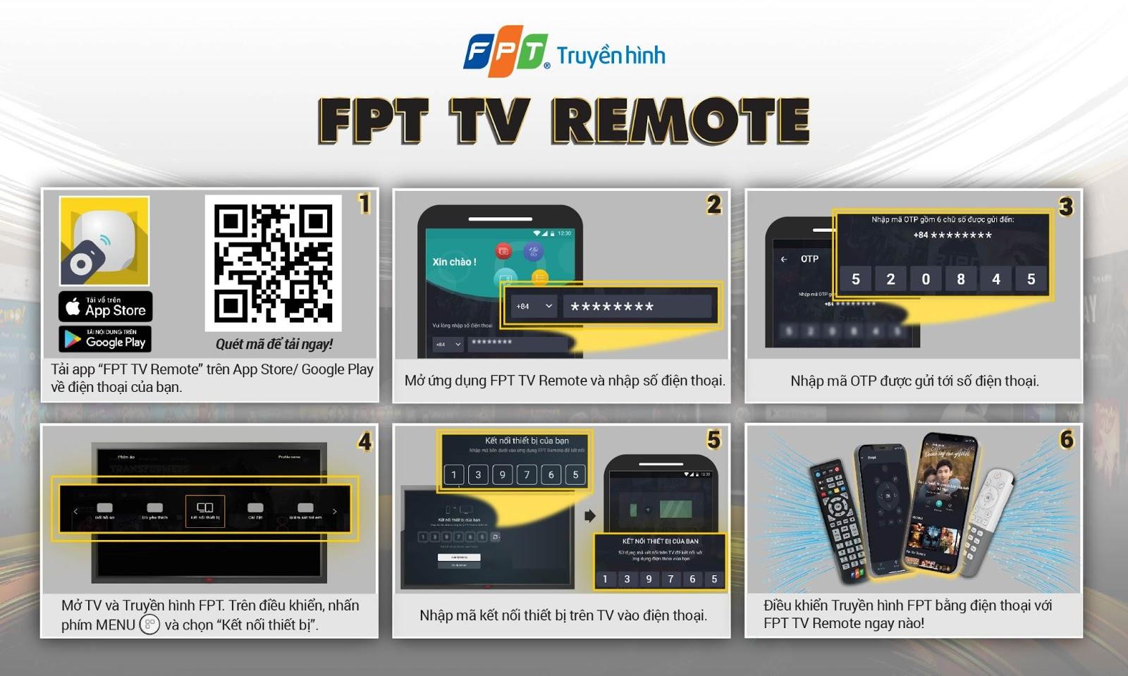 Hướng dẫn cài đặt FPT TV Remote