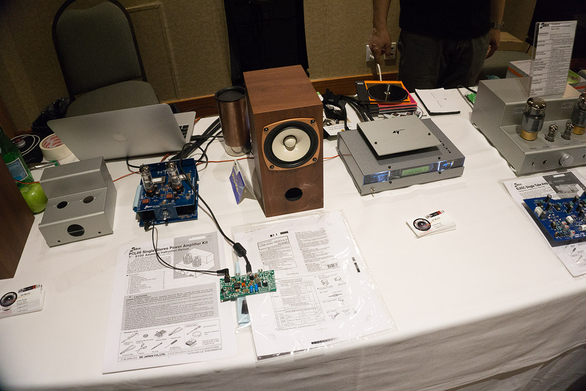Folks at vkmusic were there with a table of their diy kits and such some elekit units sparkler audio s303 cd player is unfortunately off to the right just