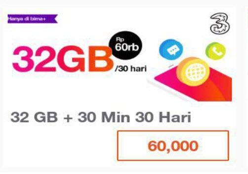 paket internet termurah tri 32GB 30hari