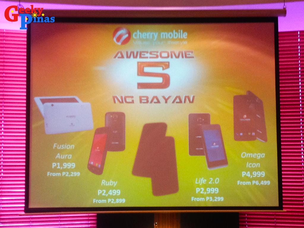 Cherry Mobile Fusion Aura, Ruby, Life 2.0 and Omega Icon get price slashed