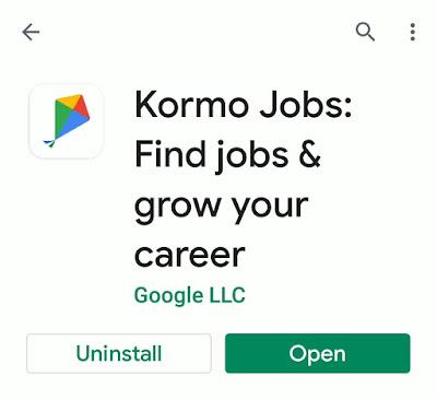google kormo job finder