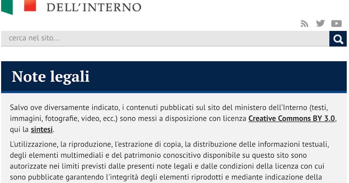 Simone Aliprandi Blog Il Ministero Dell 39 Interno Dopo La