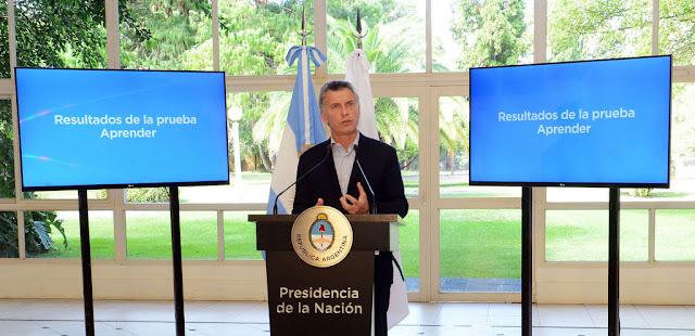 El Presidente anunció el envío al Congreso de un proyecto para mejorar la calidad educativa