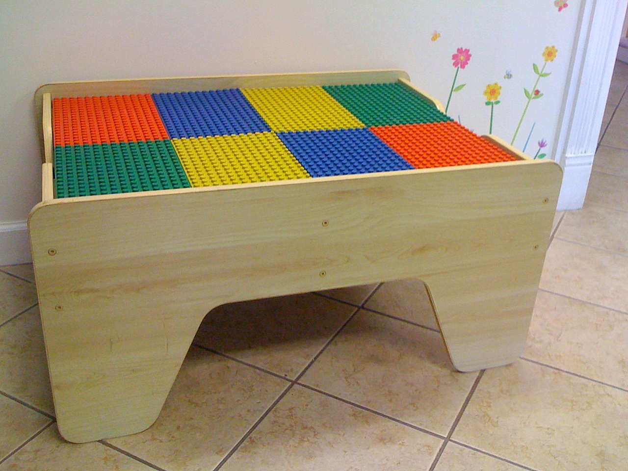 kids grow dual sided lego train table. Black Bedroom Furniture Sets. Home Design Ideas