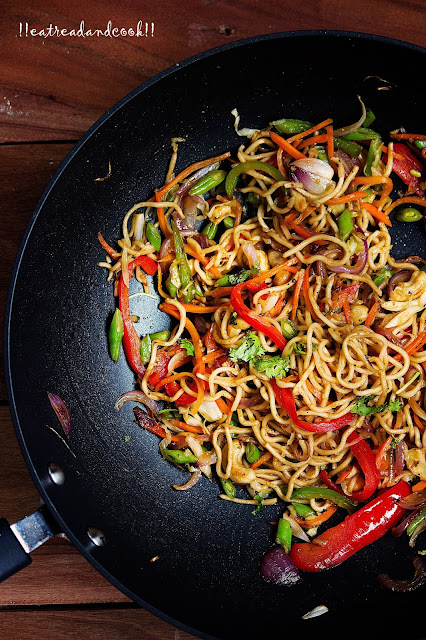 how to make Veg Chow Mein recipe and preparation