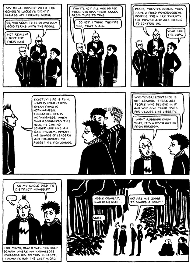Read Chapter 5 - The Vegetable, page 37, from Marjane Satrapi's Persepolis 2 - The Story of a Return