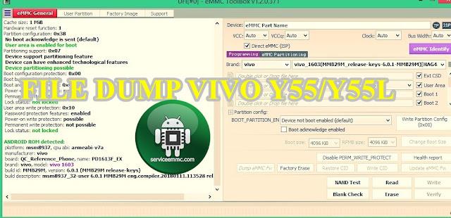 File Dump VIvo Y55/Y55L PD1613F +Paket Firmware Backupan