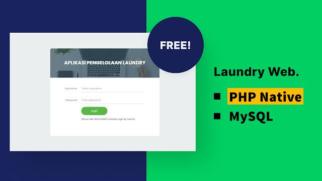 Aplikasi laundry berbasis web menggunakan php native
