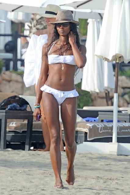 Naomi Campbell in a white bikini - Spring 2016