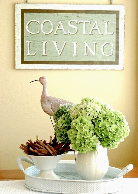 tray chic coastal decorations