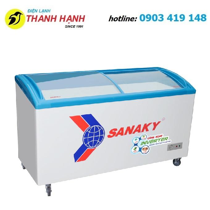 Tủ đông kính cong inverter Sanaky