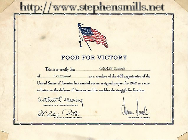 Food for Victory Carolyn Emmons