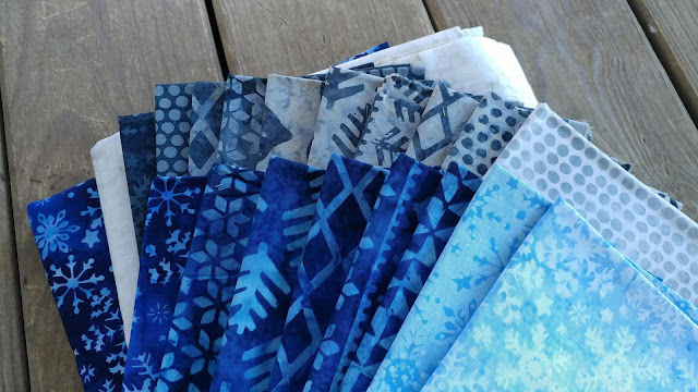Island Batik Alpine Ice fabrics