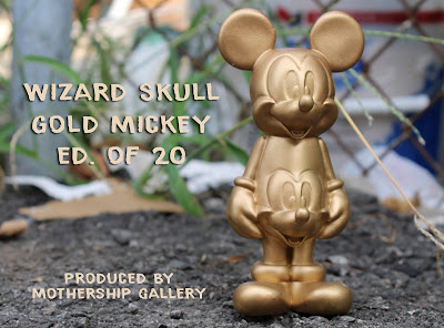 Golden Mickey Resin Figure by Wizard Skull x Martian Toys