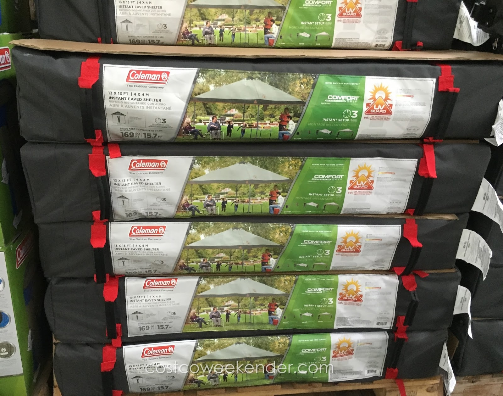 Protect yourself from the sun with the Coleman Instant Eaved Shelter & Coleman Instant Eaved Shelter | Costco Weekender