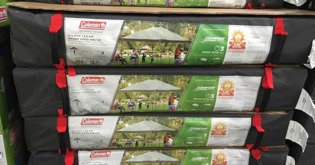 & Coleman Instant Eaved Shelter | Costco Weekender