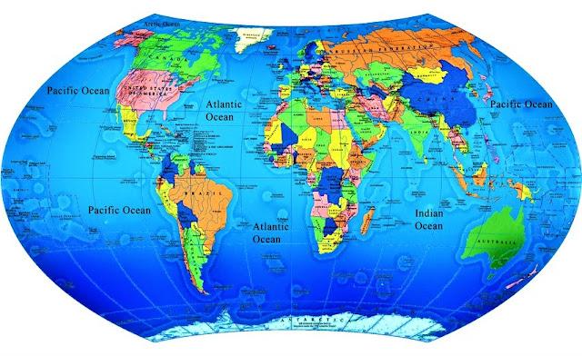 Peta Dunia Lengkap 2019