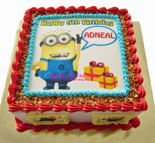 Birthday Cake Edible Image Despicable Me 2
