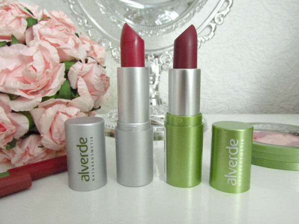 alverde Color & Care Lippenstift - 60 Sweet Berry & Lippenstift 28 Deep Violet